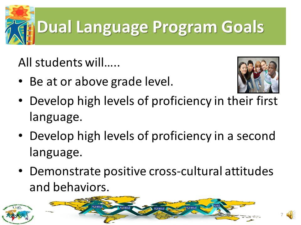 Dual Language Programs in U-46 Same Basic Principles, Different Language Groups One-Way Dual Language One Way Dual language programs are implemented i