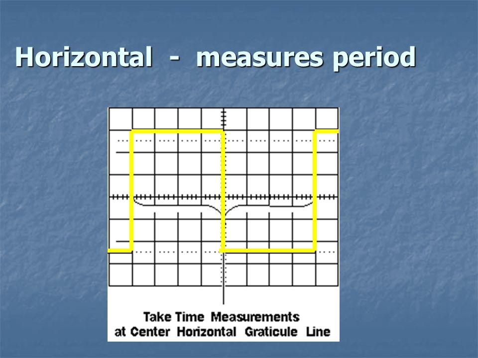 Vertical - measures voltage