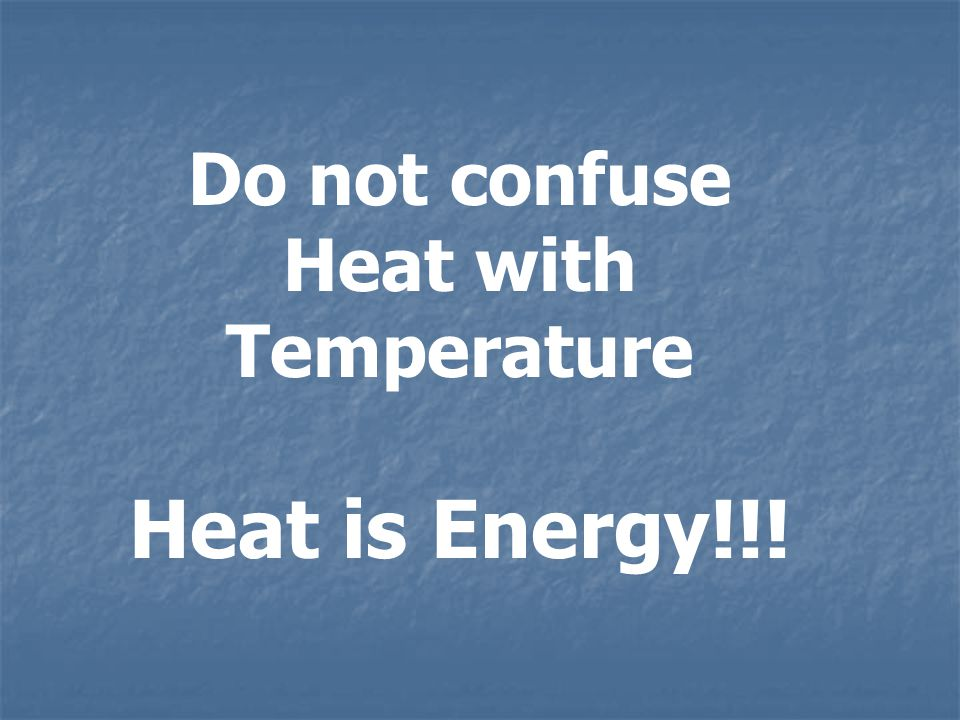 Heat Flow = Heat Energy Transferred Rate Elapsed Time Q H = H t Units Am.