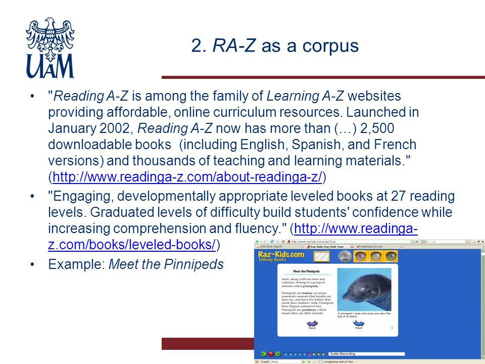 2. RA-Z as a corpus