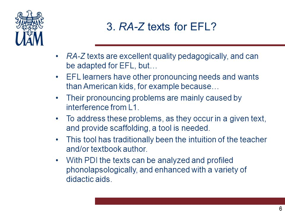 3. RA-Z texts for EFL.