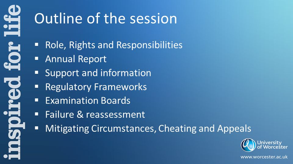 Departmental Boards of Examiners  Chaired by HoD or nominee – The Course Leader or Link Tutor is not permitted to chair the Board for the course for which he/she is responsible.
