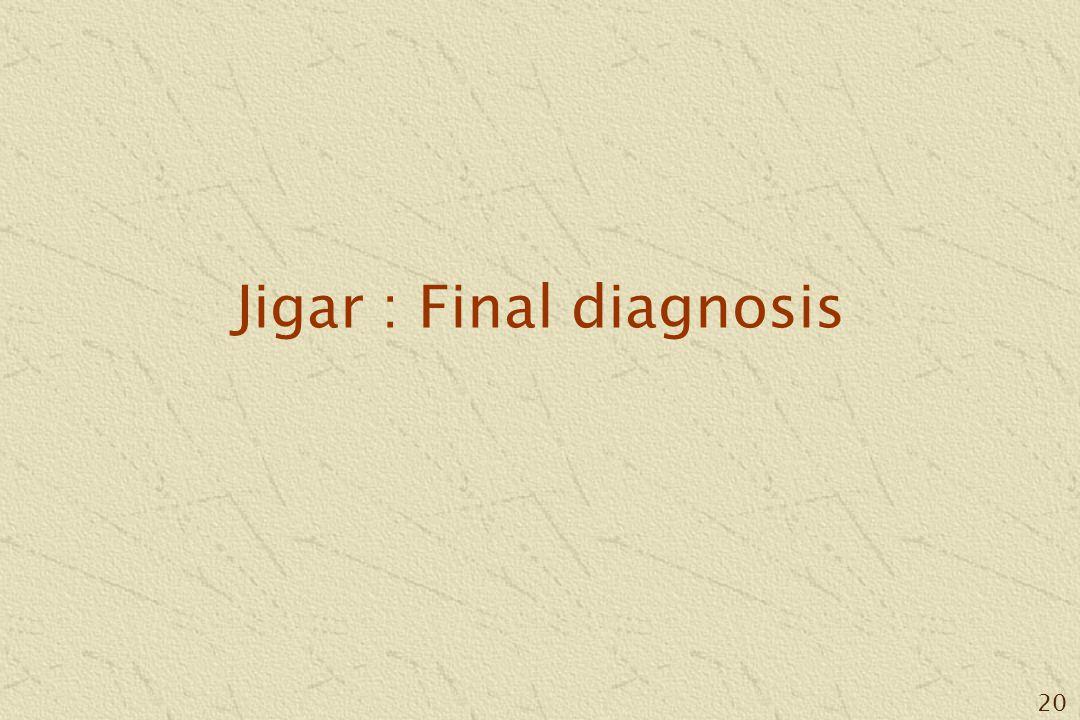 20 Jigar : Final diagnosis