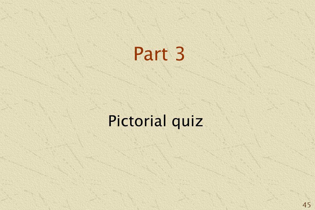 45 Part 3 Pictorial quiz
