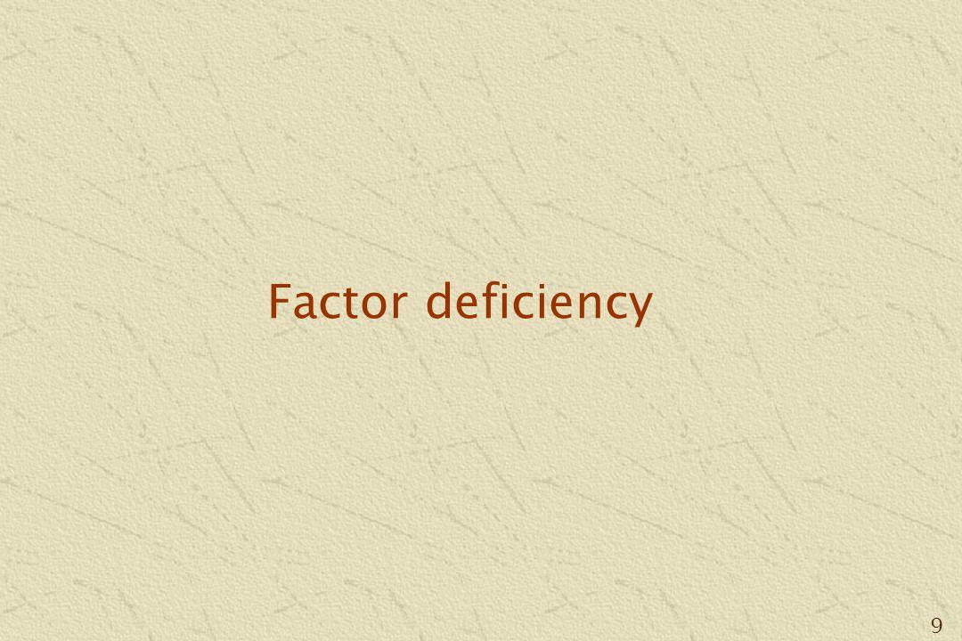 9 Factor deficiency