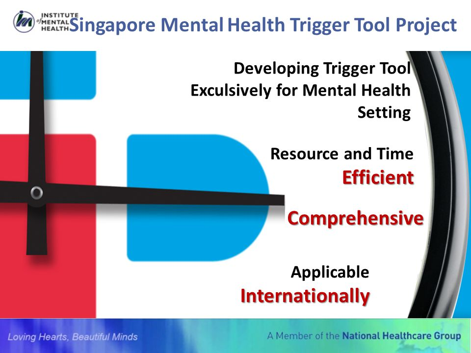 Singapore Mental Health Trigger Tool Project Developing Trigger Tool Exculsively for Mental Health Setting Efficient Resource and Time Efficient Compr
