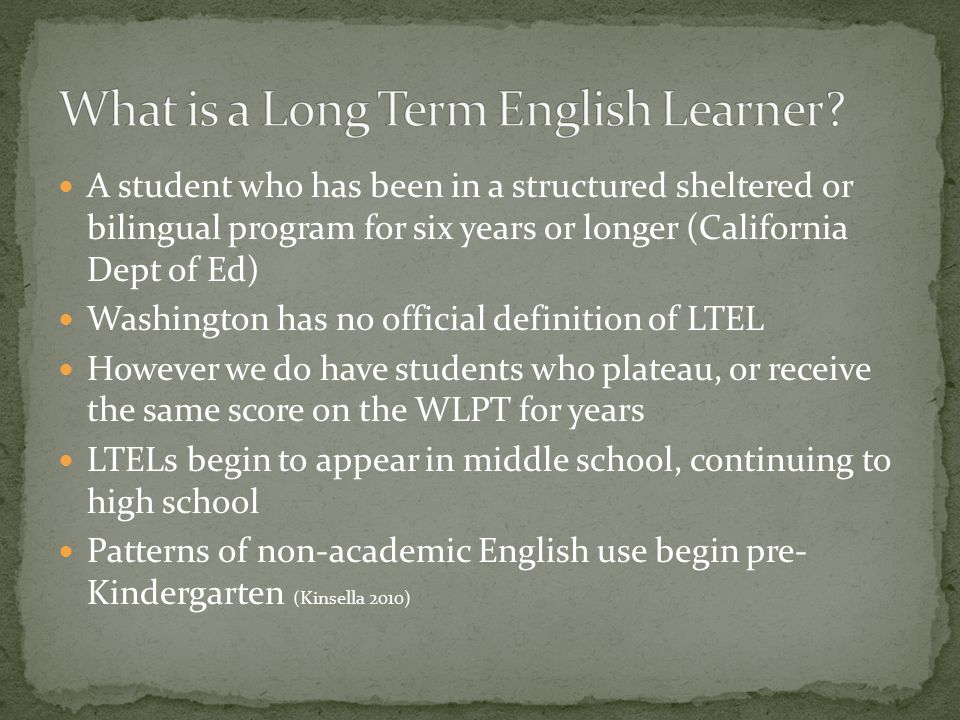English language learners need plenty of oral practice with social and academic language English Language Development (ELD) instruction should emphasize listening and speaking although it can incorporate reading and writing.