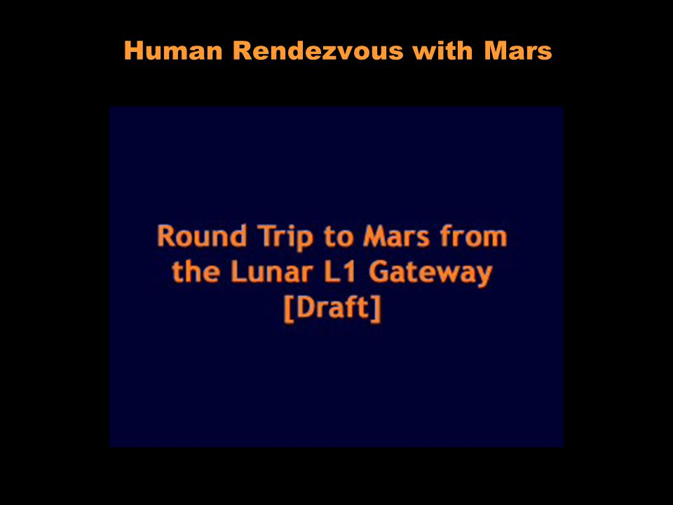 Lunar L 1 Gateway Human Rendezvous with Mars
