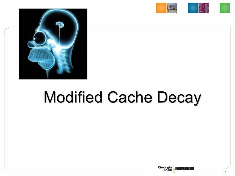 12 Modified Cache Decay