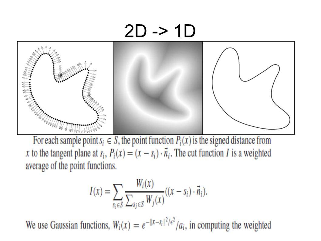 2D -> 1D