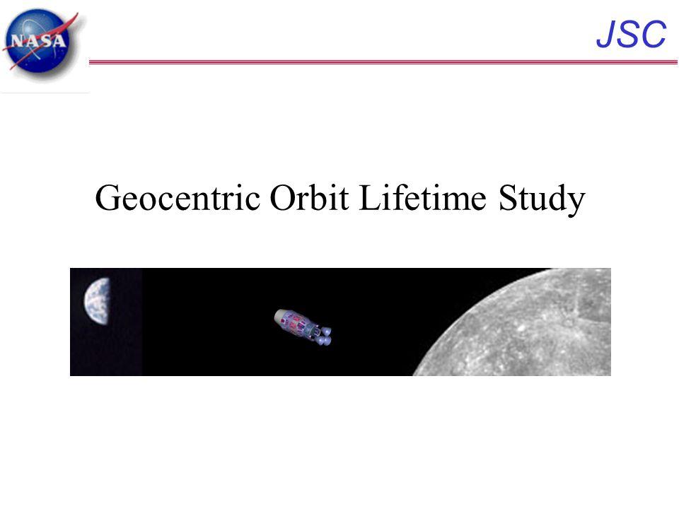JSC Geocentric Orbit Lifetime Study
