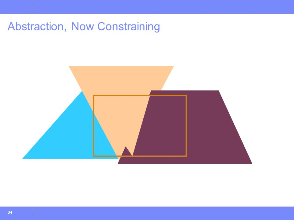 24 Abstraction, Now Constraining