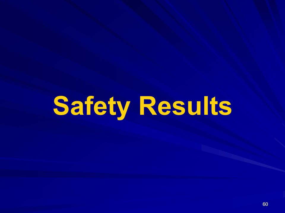 60 Safety Results