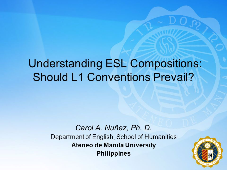 Understanding ESL Compositions: Should L1 Conventions Prevail.
