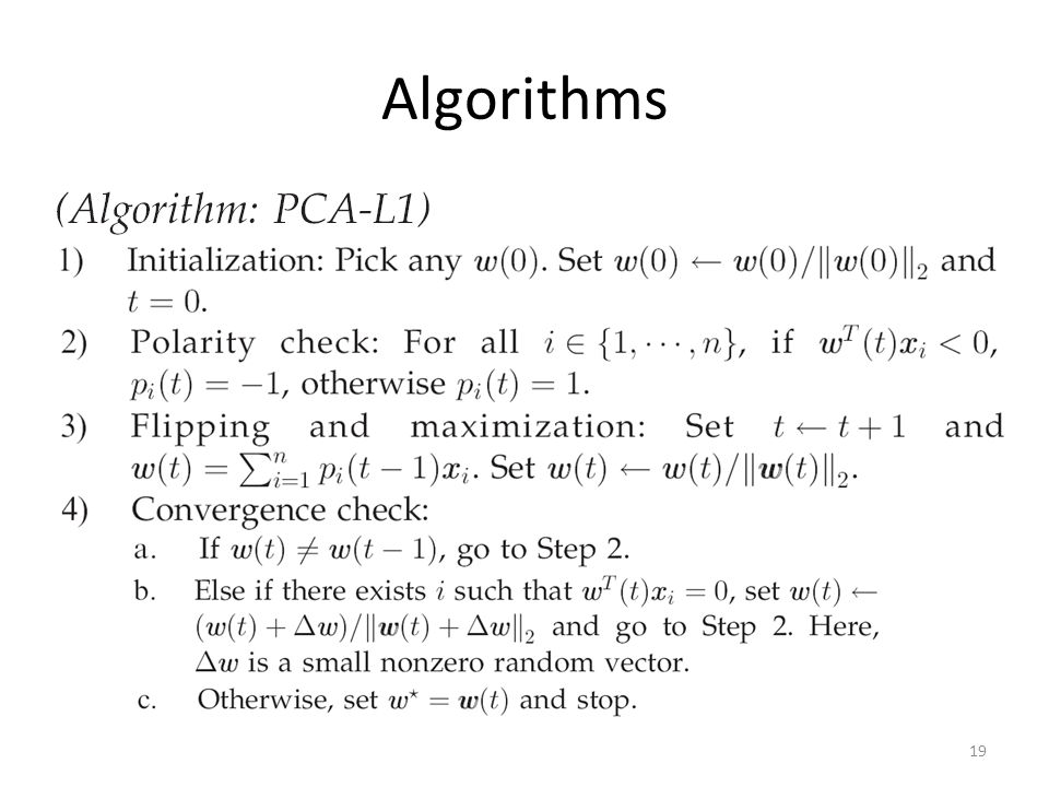 Algorithms 19