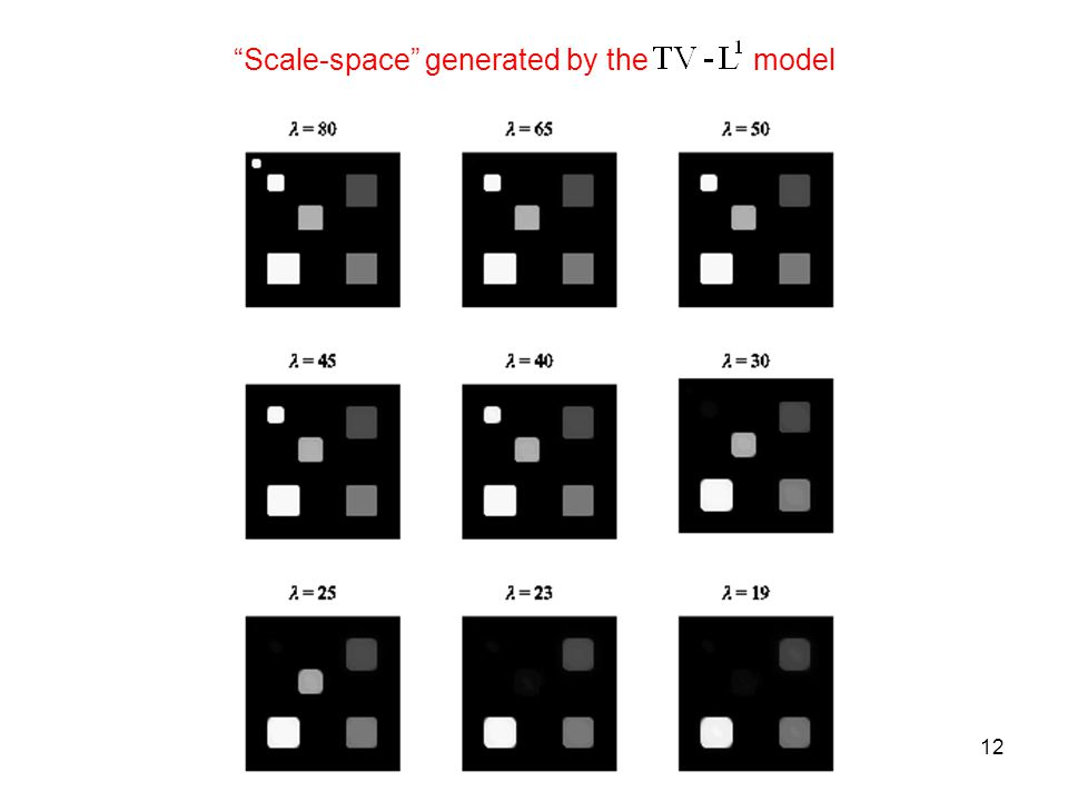 12 Scale-space generated by the model
