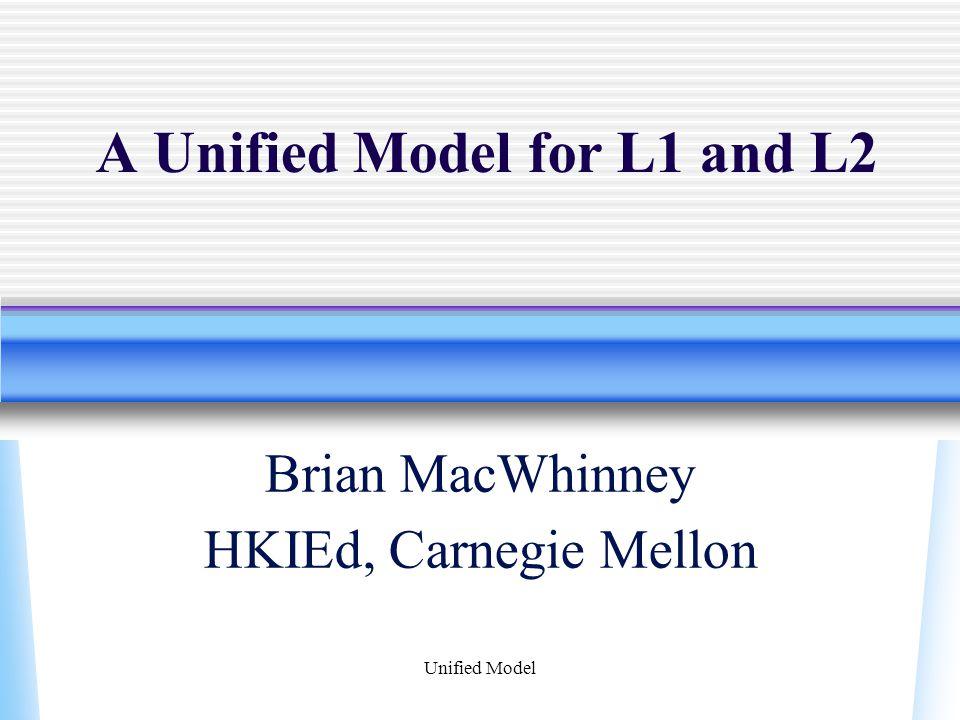 Unified Model Behavioral Data