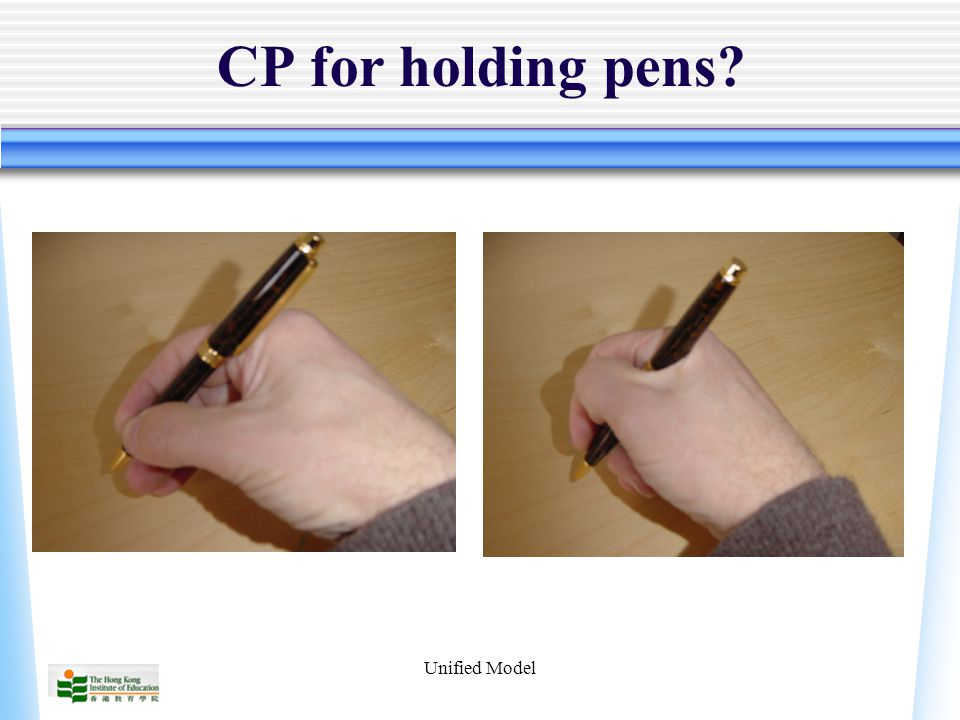Unified Model CP for holding pens?
