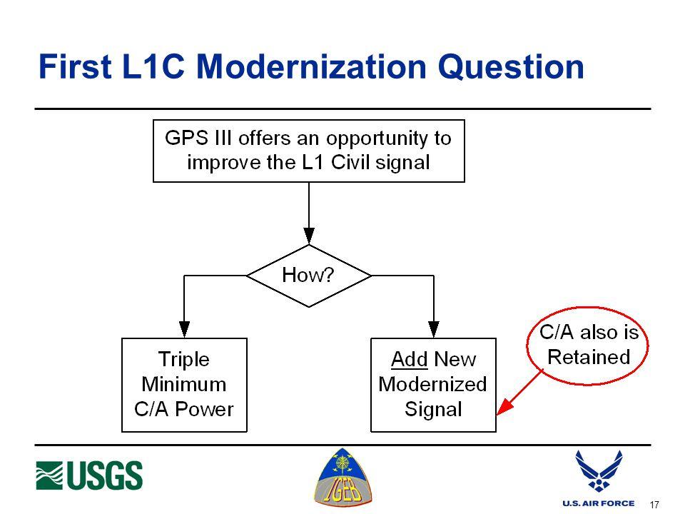 17 First L1C Modernization Question
