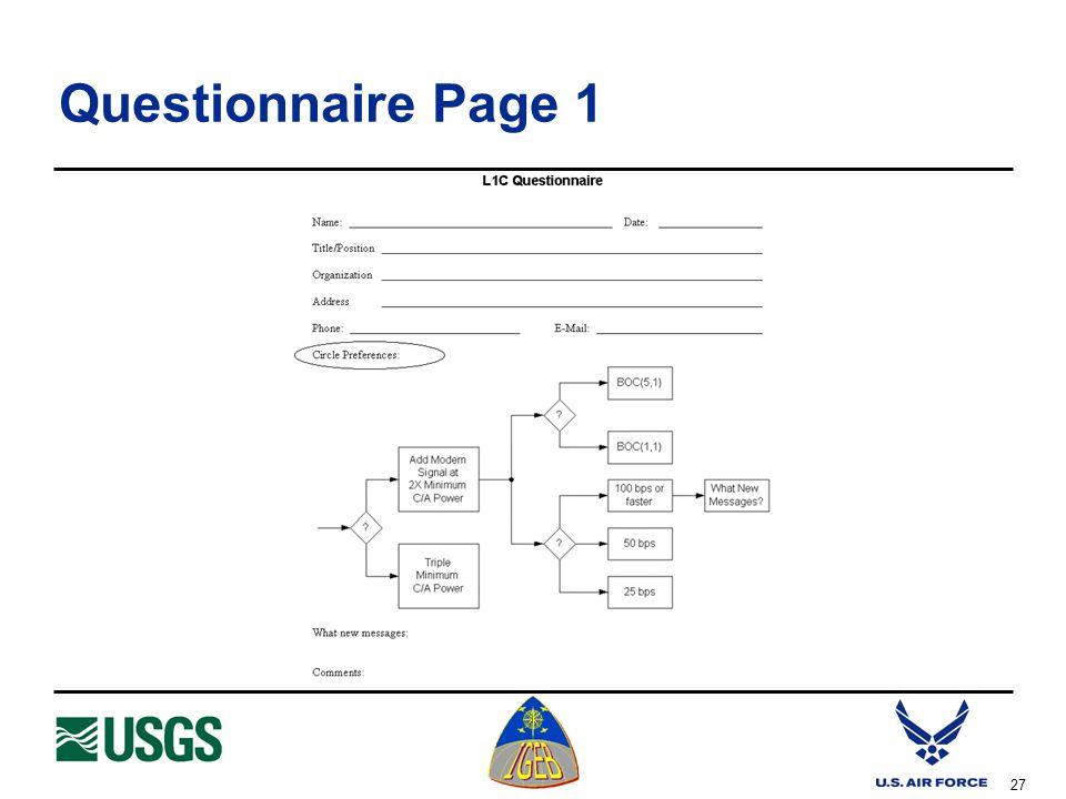 27 Questionnaire Page 1