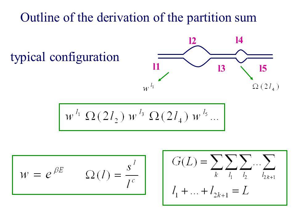 Outline of the derivation of the partition sum l1 l3 l5 l2 l4 typical configuration