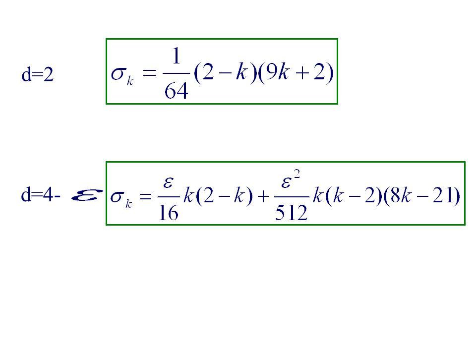 d=2 d=4-