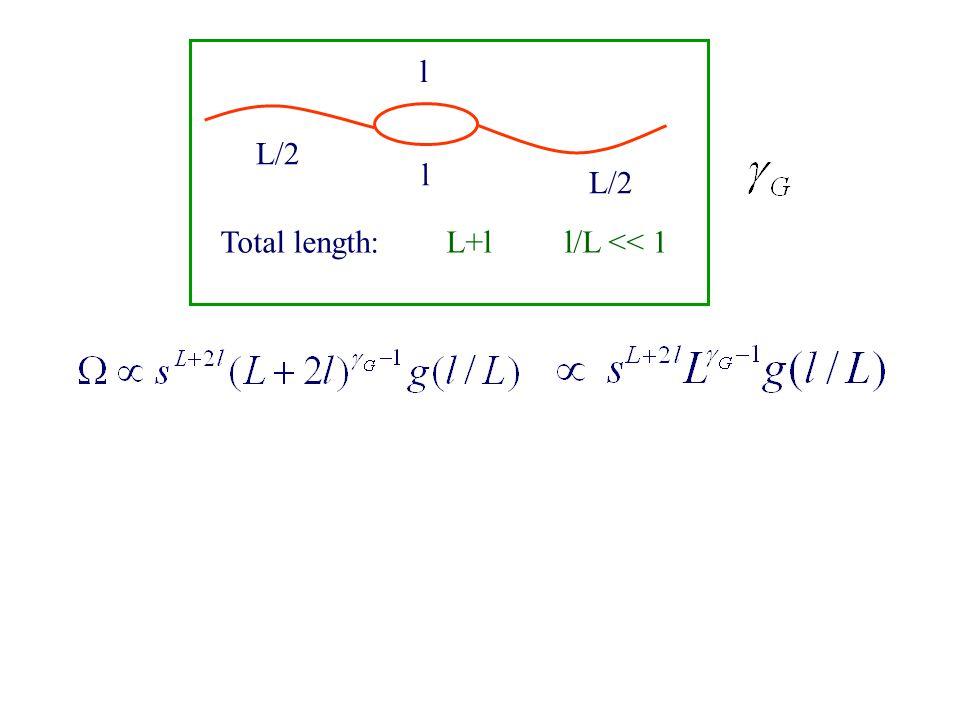 L/2 l l Total length: L+l l/L << 1