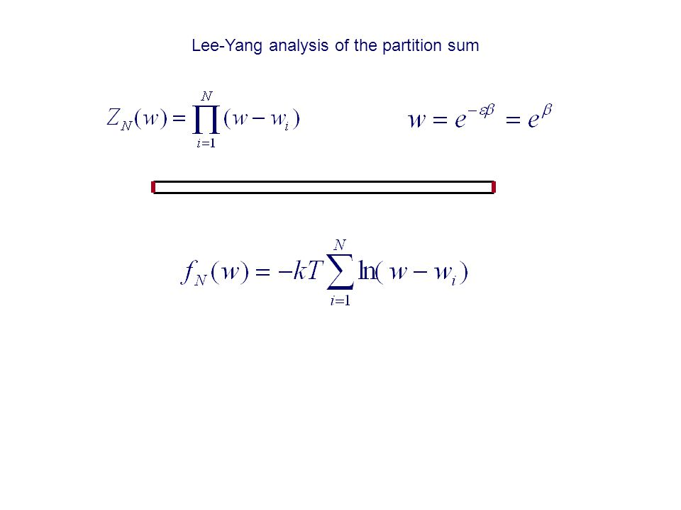 Lee-Yang analysis of the partition sum