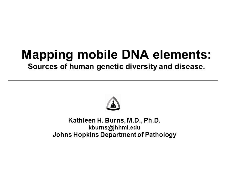 Mapping mobile DNA elements: Sources of human genetic diversity and disease.