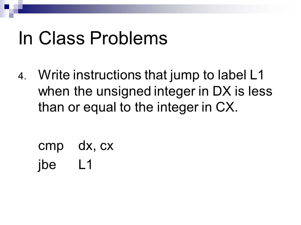 In Class Problems 4.