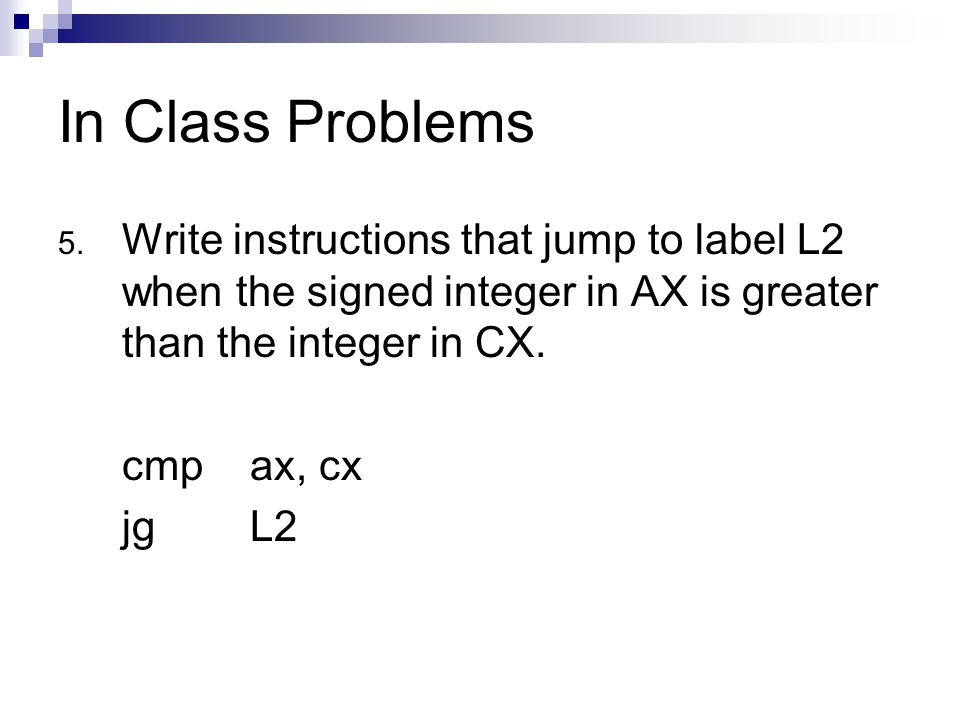 In Class Problems 5.