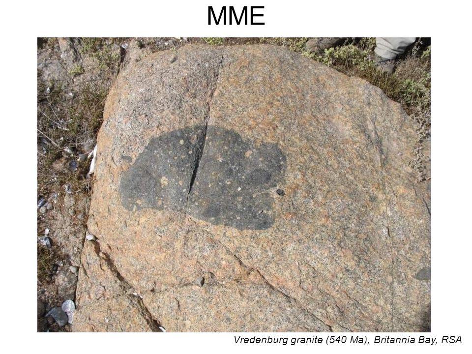 Vredenburg granite (540 Ma), Britannia Bay, RSA MME