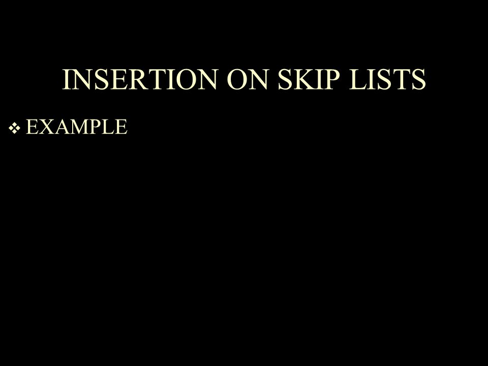 INSERTION ON SKIP LISTS  EXAMPLE