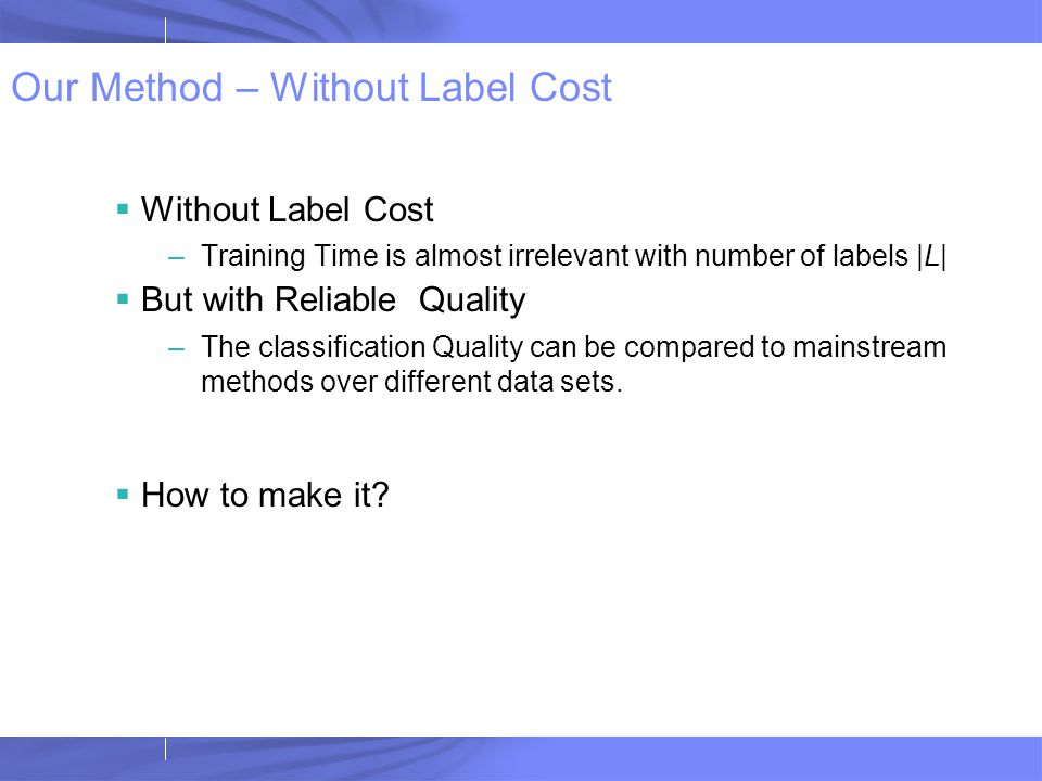 Experiment – Computational Cost