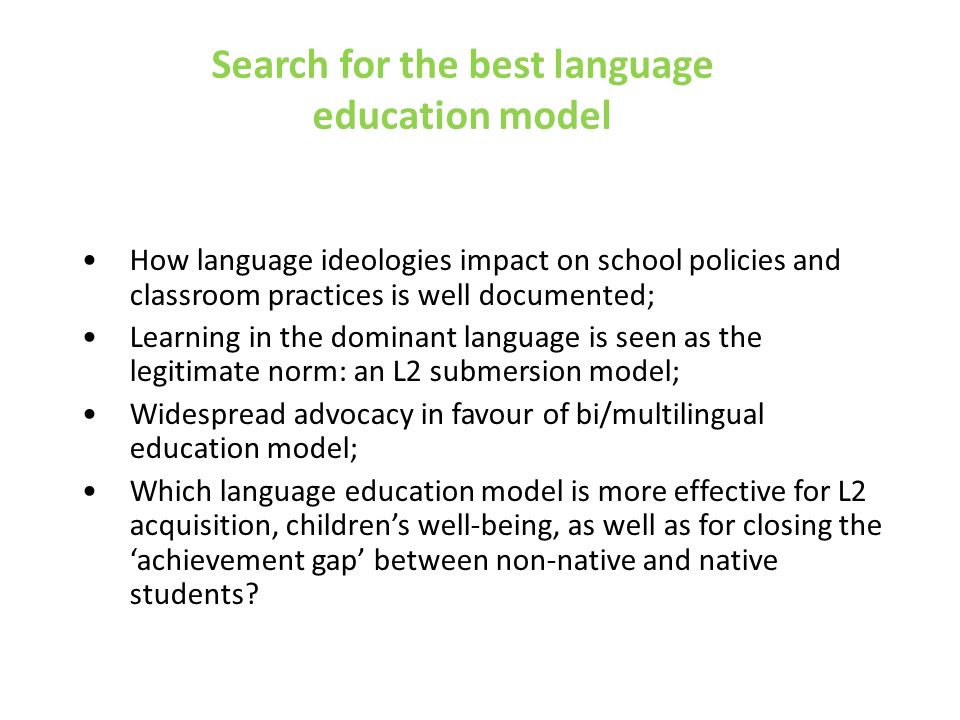 Conclusions FPT/L seems to be more powerful and seems to have more potential than traditional compartimentalised bilingual learning.