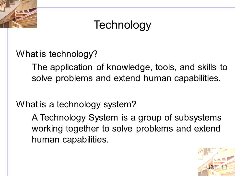 The building blocks of all technology systems CORE TECHNOLOGIES Structural Technology Core Technologies Mechanical StructuralElectrical ElectronicThermal FluidOptical Bio-TechMaterial U3i - L1