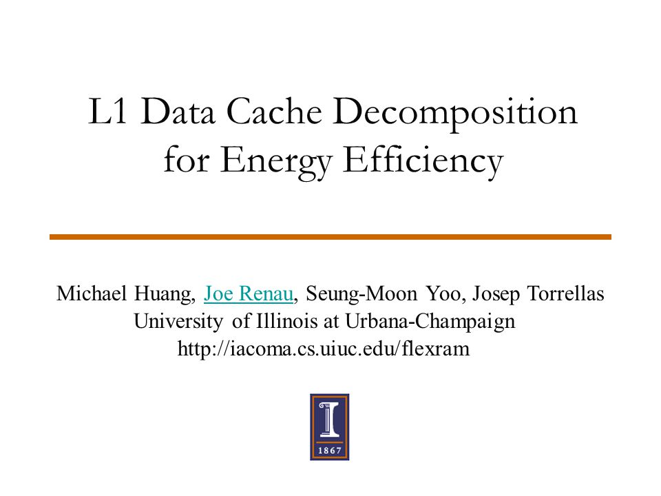 International Symposium on Low Power Electronics and Design, August 200122 Conclusions  Stack cache: important for energy-efficiency  SW optimization required for stack caches  Effective Specialized Stack Cache extensions  Pseudo Set-Associative Cache: –4-way more effective than 2-way –Predictive Phased PSAC has the lowest E*D  Effective to combine PASC and SSC –E*D reduced by 44% on average