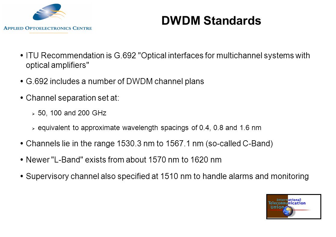  ITU Recommendation is G.692