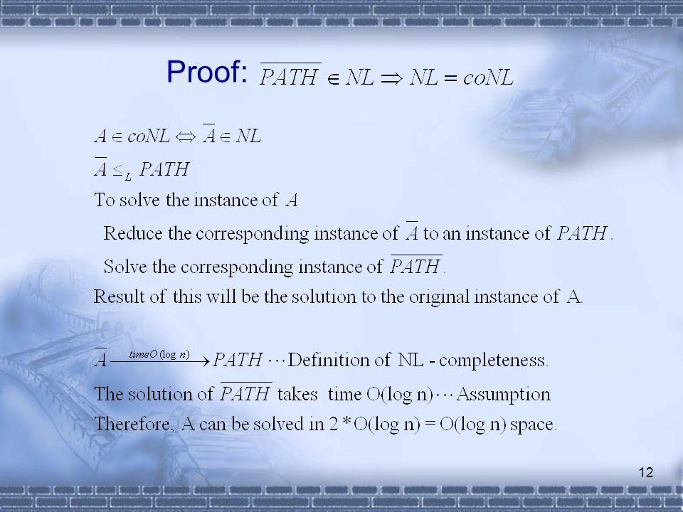 12 Proof: