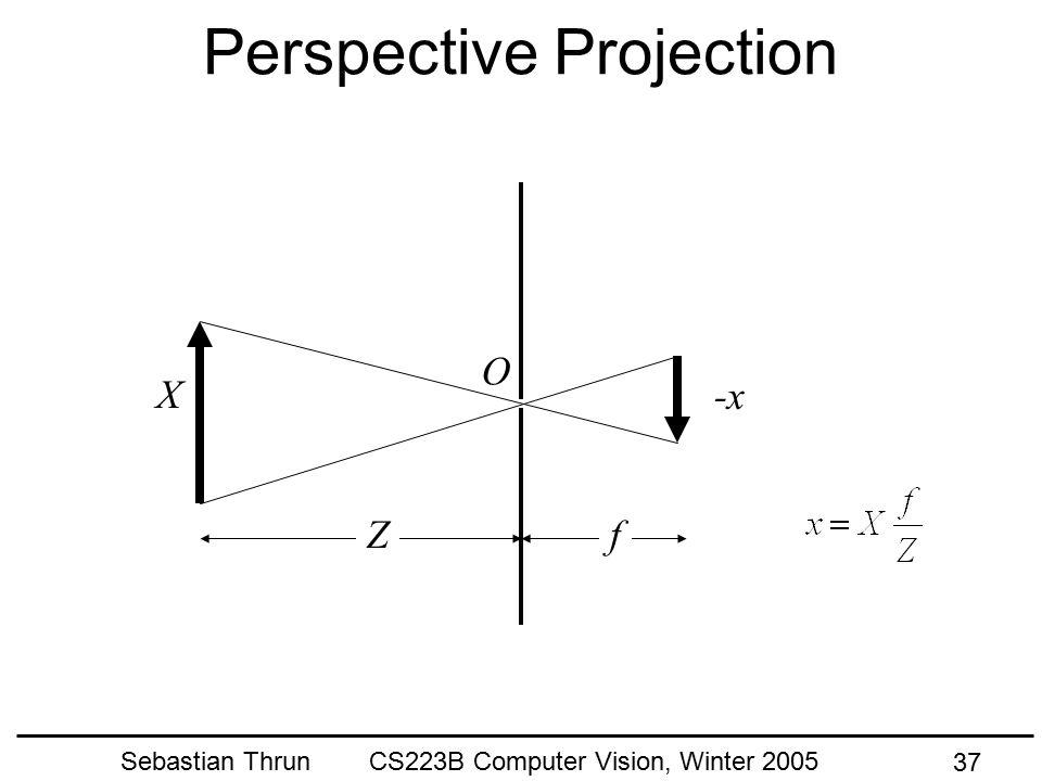 Sebastian Thrun CS223B Computer Vision, Winter 2005 36 Implications For Perception* * A Cartoon Epistemology: http://cns-alumni.bu.edu/~slehar/cartoon