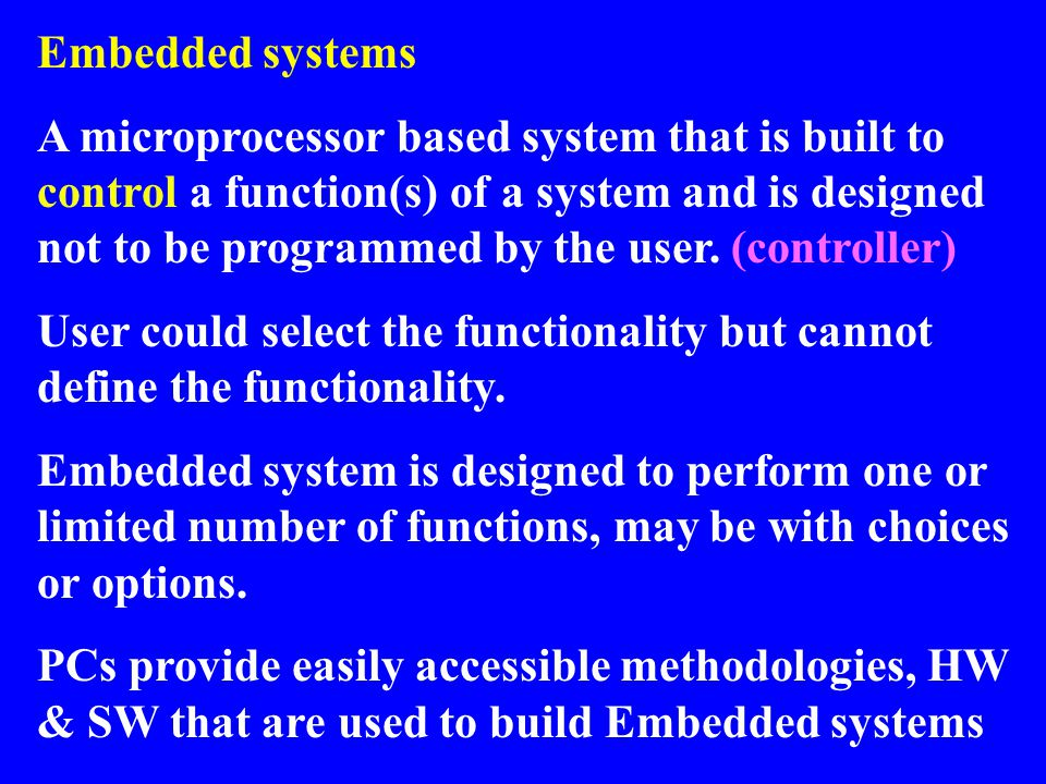Application-specific Instruction set Processors Programmable processor optimized for a particular class of applications having common characteristics –Compromise between general- purpose and single-purpose processors Features –Program memory –Optimized datapath –Special functional units Benefits –Some flexibility, good performance, size and power IRPC Registers Custom ALU DatapathController Program memory Assembly code for: total = 0 for i =1 to … Control logic and State register Data memory