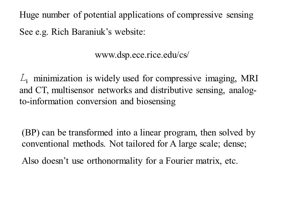 One might solve the unconstrained problem (UNC) Need  to be small to heavily weight the fidelity term.