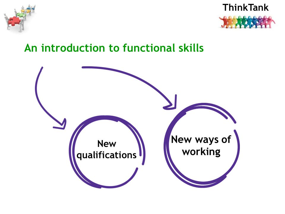 ThinkTank An introduction to functional skills New qualifications New ways of working