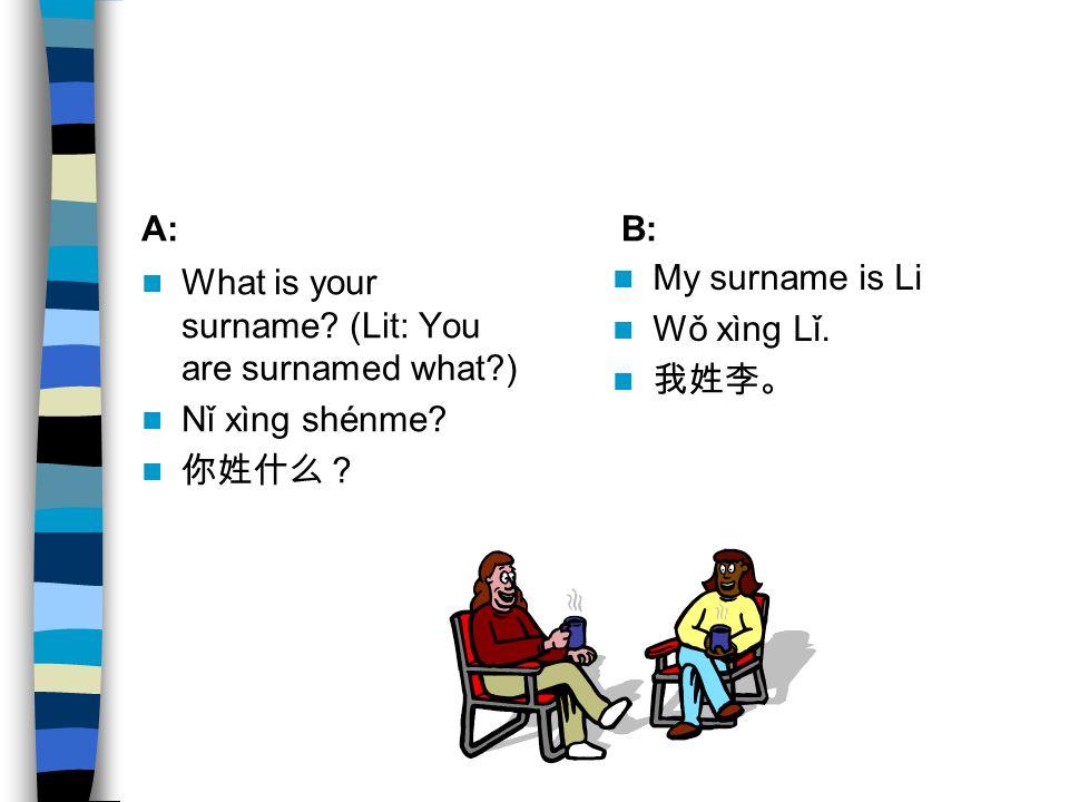 姓 (xìng) is usually negated with 不 (bù).