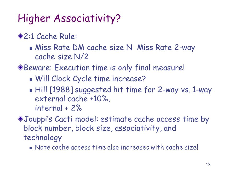 13 Higher Associativity.