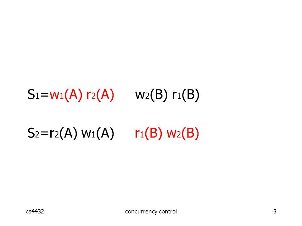 cs4432concurrency control24 Schedule G delayed