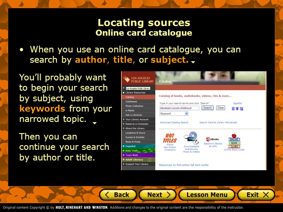 Tech Tool: America's Story America's Story is a database provided by the Library of Congress that is free to all users.