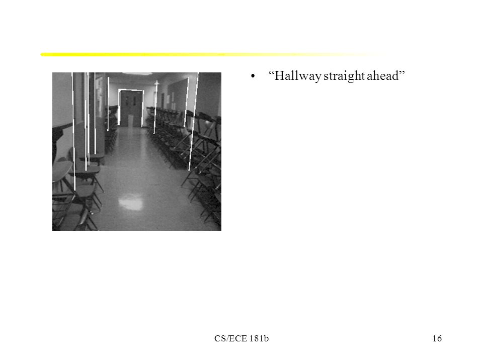 CS/ECE 181b16 Hallway straight ahead