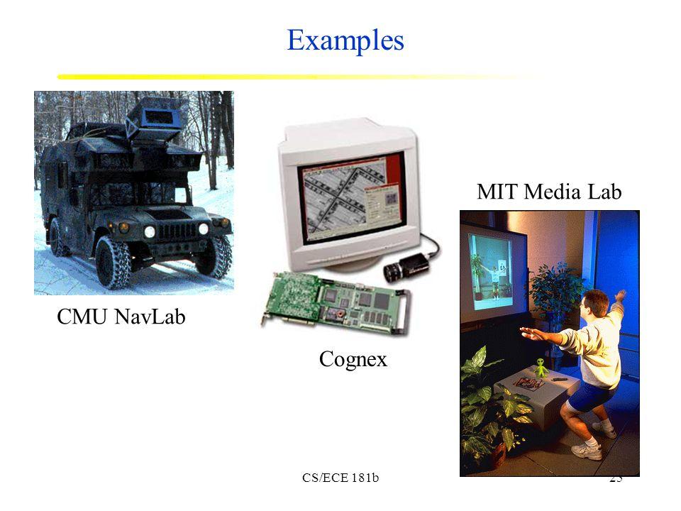 CS/ECE 181b25 Examples CMU NavLab Cognex MIT Media Lab