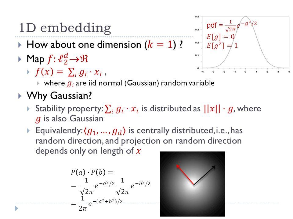 1D embedding